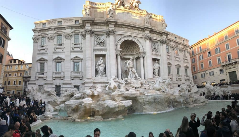 The largest baroque fountain in Rome and the most famous fountain in the world.