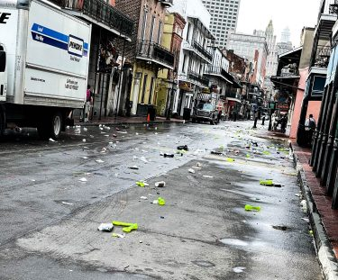 Bourbon Street on a Sunday Morning after a night of partying
