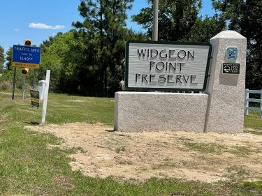 Widgeon Point Preserve Sign