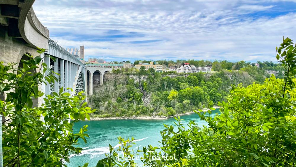 View of Canada from Niagara Falls USA